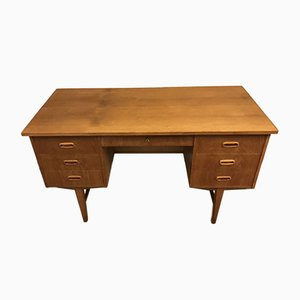 Dänischer Eiche Schreibtisch, 1960er