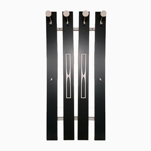 Green & White Lacquered Vertical Hall Coat Rack from ED Möbel, 1970s