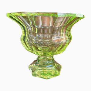 Scodella in vetro uranio verde, anni '30