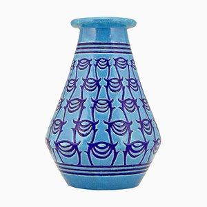 Vase Art Déco en Céramique par Longwy pour Primavera, France, 1925