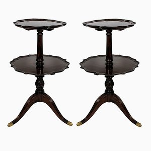 Mahogany Tray Tables, Set of 2, 1910s