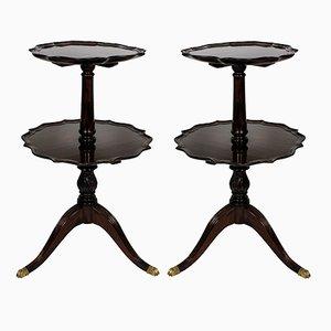 Tavolini a due livelli in mogano, anni '10, set di 2