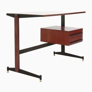 Mid-Century Metal & Teak Desk, 1950s