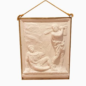 Art Deco Relief in Plaster, Cain and Abel, 1930s