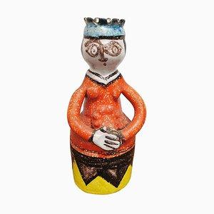 Sicilian Multicolored Ceramic Figure by Giovanni De Simone, 1960