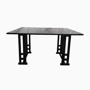 Cassina Style Black Ash Dining Table, 1980s
