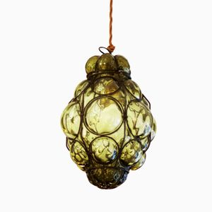 Murano Caged Glass Pendant Light from Seguso