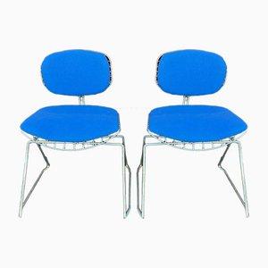 Traîneau Side Chairs by Michel Cadestin, 1970s, Set of 2