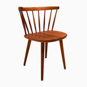 Swedish Oak Bobino Side Chair by Yngve Ekström for Stolab, 1950s