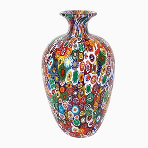 Mid-Century Italian Glass Vase by Fratello Toso for Fratello, 1960s