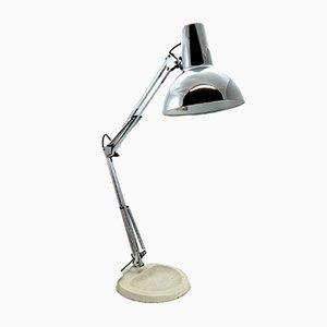 Chrome & Cast Iron Table Lamp, 1970s