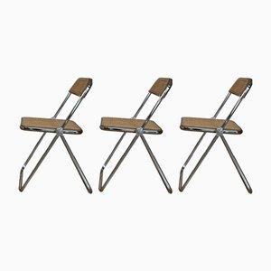 Plia Dining Chairs by Giancarlo Piretti for Castelli / Anonima Castelli, 1970s, Set of 3