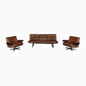 DS31 Sofa & Armchairs from de Sede, 1970s, Set of 3