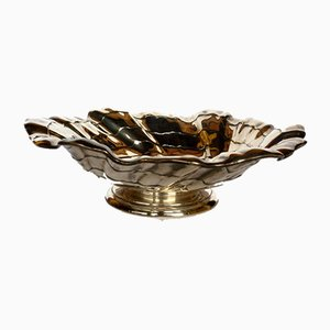 Mid-Century Modern Silver Metal Bowl by Arthur Krupp, 1950s