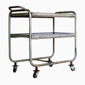Bauhaus Industrial Bar Cart Serving Trolley, 1940s