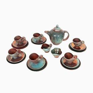 Deutsches Art Deco Keramik Geschirr Set von Arnulf Holl, 1930er, 21er Set