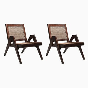 Lounge Chairs by Pierre Jeanneret, 1955, Set of 2