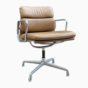Leather EA208 Swivel Chair by Charles & Ray Eames for Herman Miller, 1960s