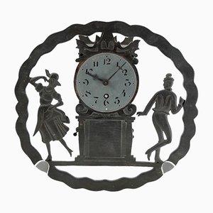 Antique Wood Clock for M & Sohn Karlstein