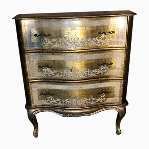 Gilded Florentine Chest of Drawers, 1960s