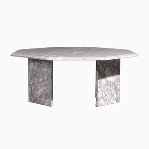 Octagonal Marble Coffee Table, 1970s
