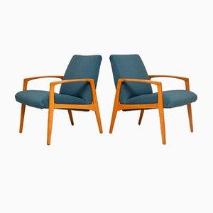 Vintage Swedish Armchairs, 1960s, Set of 2