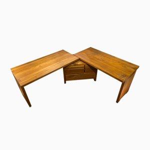 Großer Modell R19A / B19T Schreibtisch aus Holz von Pierre Chapo, 1960er