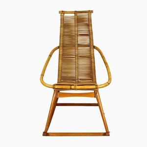 Mid-Century Rattan Rocking Chair, 1960s