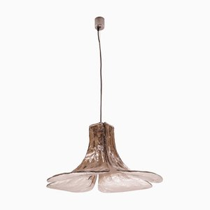 Murano Glas LS 185 Deckenlampe von Carlo Nason für Mazzega, 1970er