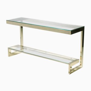 Brass Console Table by Guy Lefevre for Maison Jansen, 1970s