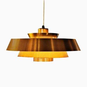 Kupfer Nova Deckenlampe von Johannes Hammerborg für Fog & Mørup, 1960er