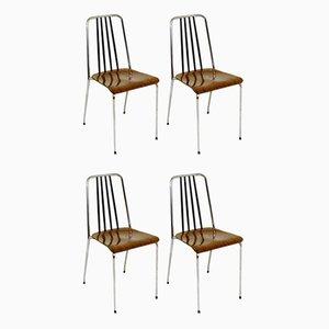 Chaises de Salon en Formica, Suède, 1970s, Set de 4