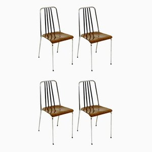 Swedish Formica Dining Chairs, 1970s, Set of 4