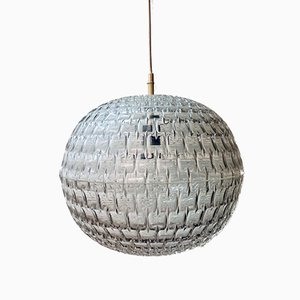 Mid-Century German Origami Diamond Ceiling Lamp by Aloys Gangkofner for Erco