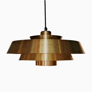 Brass Nova Ceiling Lamp by Johannes Hammerborg for Fog & Mørup, 1960s