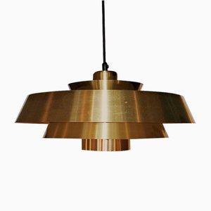 Lampada da soffitto Nova in ottone di Johannes Hammerborg per Fog & Mørup, anni '60