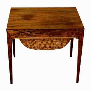 Dutch Rosewood Worktable by Severin Hansen, 1960s