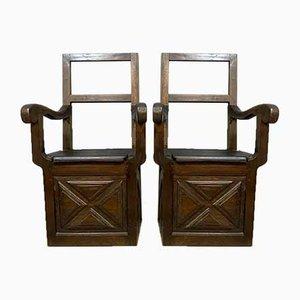 Holzstühle, 2er Set, 1800er