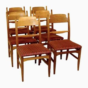 Swedish Calmare Nyckel Dining Chairs by Carl Malmsten, 1970s, Set of 6