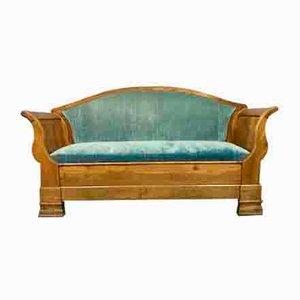 Chaise longue de nogal claro, década de 1830