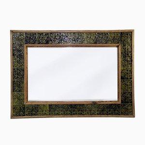 Glazed Minton China Mosaic Mirror, Late 1800s