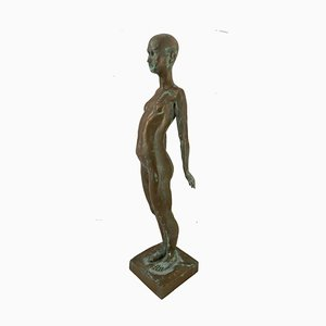 Nude Lady, Ronald Moll, Cold Cast Bronze, 1990
