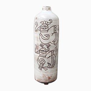 Vintage French Ceramic Flower Vase by Michel Barbier, 1960s