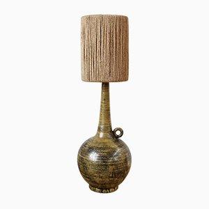 Französische Mid-Century Keramik Lampe von Jacques Blin, 1950er