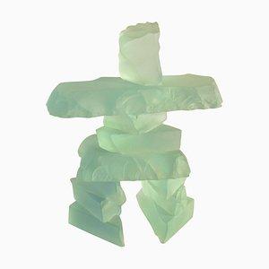 Etched Glass Figurative Sculpture