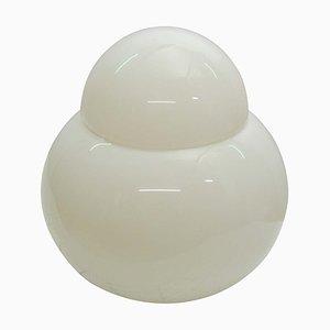 White Blown Glass Table Lamp by Sergio Asti for Fontana Arte