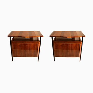 Cabinets in Blond and Palisander Veneer Attributed to Ico Parisi, Set of 2