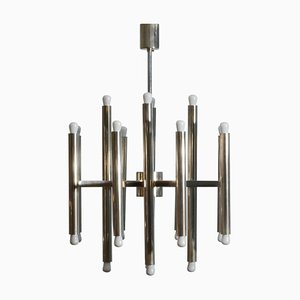 Minimal Chandelier in Nickel from Sciolari