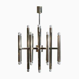Minimalistischer Nickel Kronleuchter von Sciolari