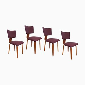 Plywood Dining Chairs by Cor Alons, 1950s, Set of 4